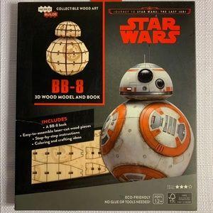 Star Wars BB-8 3-D wood model & book